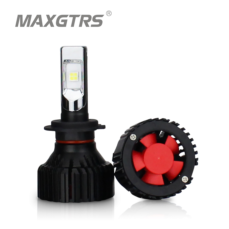 MAXGTRS Car LED Headlight H4 H7 H11 H8 9005/HB3 9006/HB4 9012 H16 8000Lm Auto Headlamp Fog Lighting DRL Bulbs 6000K Plug & Play maxgtrs car led headlight h7 h4 led h8 h11 hb3 9005 hb4 9006 9012 csp chip 60w 6000lm auto bulb headlamp 6000k fog light
