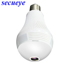 Secueye 360 Degree Panoramic Wifi 1080P/2MP VR Camera LED Bulb Security Camcorder Motion Detection CCTV Support iOS/Android APP(China)