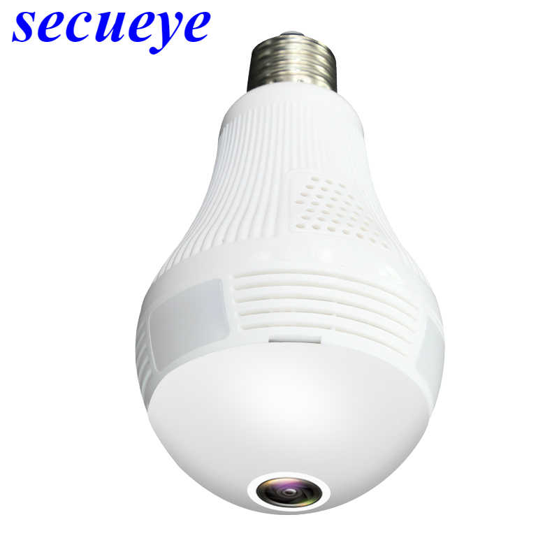 Secueye 360 Degree Panoramic Wifi 1080P/2MP VR Camera LED Bulb Security Camcorder Motion Detection CCTV Support iOS/Android APP