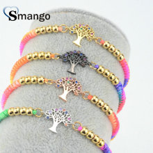 Women CZ Bracelet, Fashion Jewelry, 2019 New Arrival! Wishing Tree Shape, Four Colors, Can Wholesale,5pcs