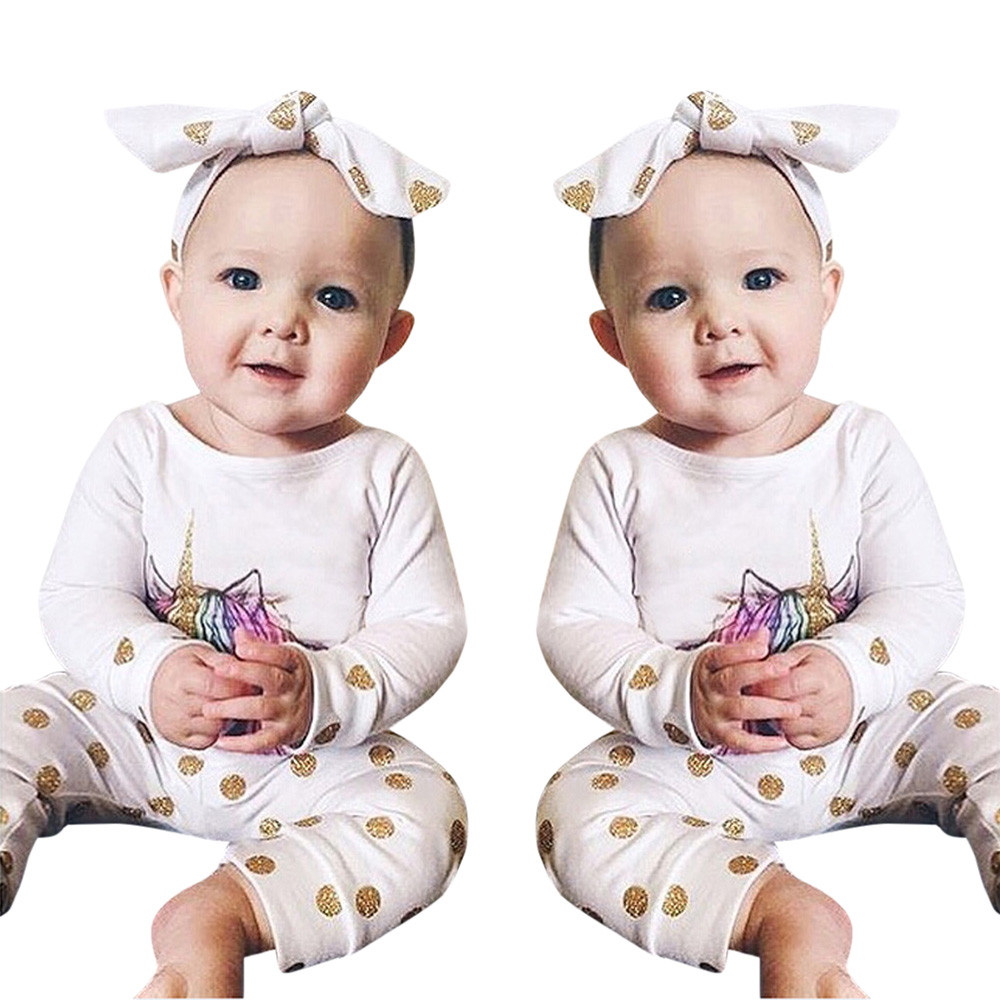 Newborn baby girl clothes set 2017 Autumn New baby clothing sets Baby Girls boys Long Sleeve Tops Pants Headband 3pcs Outfits nnw autumn new baby boys clothes 3pcs