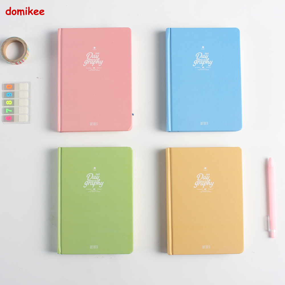 2017 New cute cartoon school student diary notebook stationery,candy personal 365 daily planner agenda organizer notebook A5 cute cat hardcover notebook school student daily diary multi functional line inner pages planner faux leather scheduling agenda