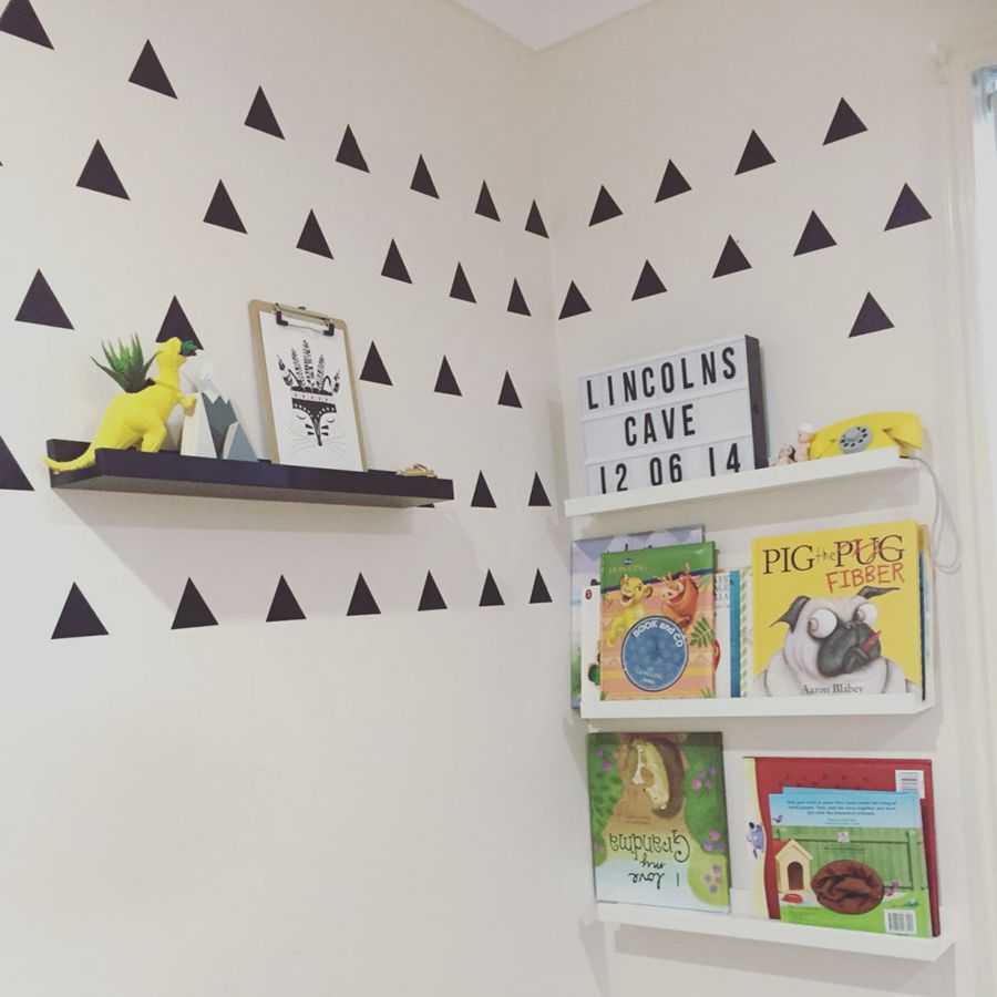 Kids room wall decor stickers - Aliexpress Com Buy Triangles Wall Sticker Kids Room Wall Decoration Gold Triangles Wall Decal Nursery Wall Art Decor From Reliable Wall Decor Suppliers