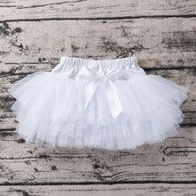 Белая юбка принцессы для маленьких девочек; пышная юбка-американка; шаровары для девочек; кружевная юбка-пачка с бантом и оборками; шорты для малышей; накидка для подгузников
