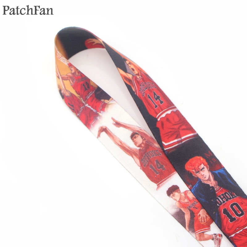 Patchfan SLAM DUNK keychain lanyard webbing ribbon neck strap fabric para id badge phone holders necklace accessories A1271 in Webbing from Home Garden