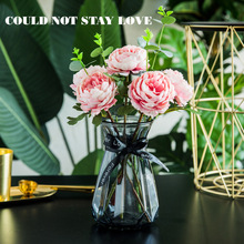 Klonca Luxury Silk Flower 30CM 2 Branch Artificial Flowers Fake Peony Wedding Bouquet Home Decoration
