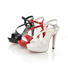 Hot sale ! Fashion Summer women shoes sexy peep Toe Wedding high heels high with 13 cm party Sandals size 34-39 LLY-201