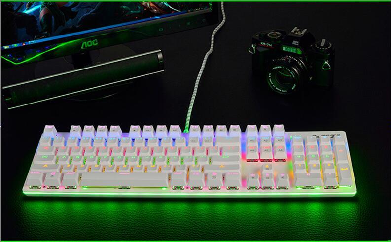 Ajazz AK 50 Rainbow Backlit Macro programming Metal Plate Mechanical Gaming Keyboard Ajazz mx Switches