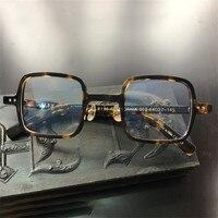 Vazrobe Brand Glasses Frame Men Acetate Eyeglasses Man Johnny Depp Square Small Nerd Prescription Spectacles Tortoise Black