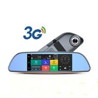 Android 3G Car DVR Mirror HD 1080P car Dash Cam GPS Navigator Video Recorder Registrar with Rear View Camera