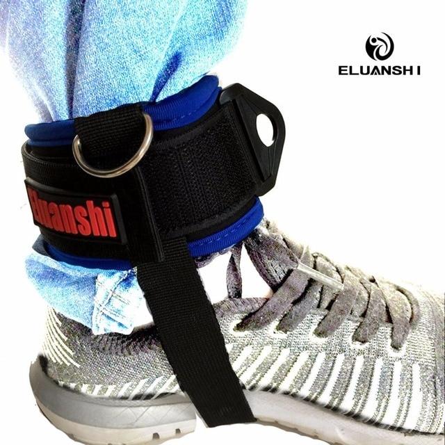 2pcs D-ring Ankle resistance bands bracelet weights Gym elastic Leg straps Strap Fitness latex stretch crossfit Training Unisex
