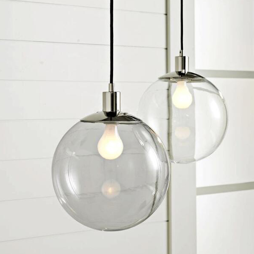 Lighting Lamp: Modern Brief Glass Ball Suspension Lamp Luminaire Dia 15