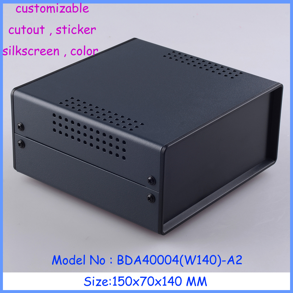 1 piece Black metal iron metal enclosures housing for electronics case fit PCB well and device diy design 1 piece free shipping abs plastic electronics enclosures case housing for design and any device box could be hang up