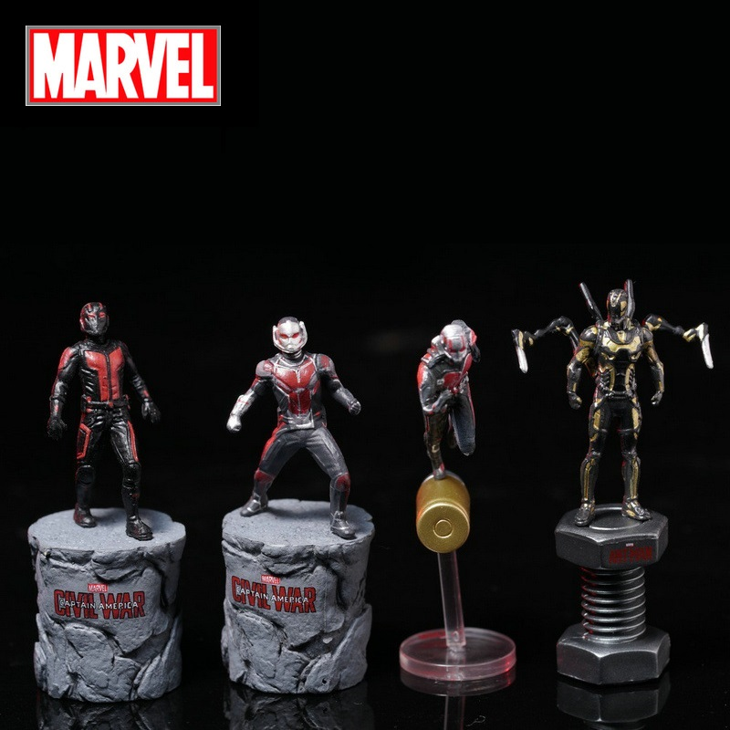 Disney Marvel Avengers Ant Man Action Figure Sitting Posture Model Anime Mini Doll Decoration PVC Collection Figurine Toys Model