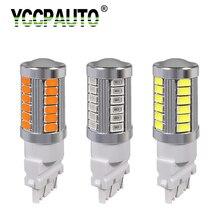 YCCPAUTO 2 шт. T25 3156 3157 P27W светодиодный лампы для фар светильник 33 SMD 5630 светодиодный Авто Автомобильные стояночные огни лампы резервного копирования DRL Белый Красный цвет: желтый, 12V