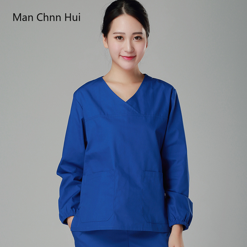Medical clothing for women Korean version of the spring and summer  medical surgical wear doctor wear scrub uniform-in Scrub Sets from Novelty & Special Use    1