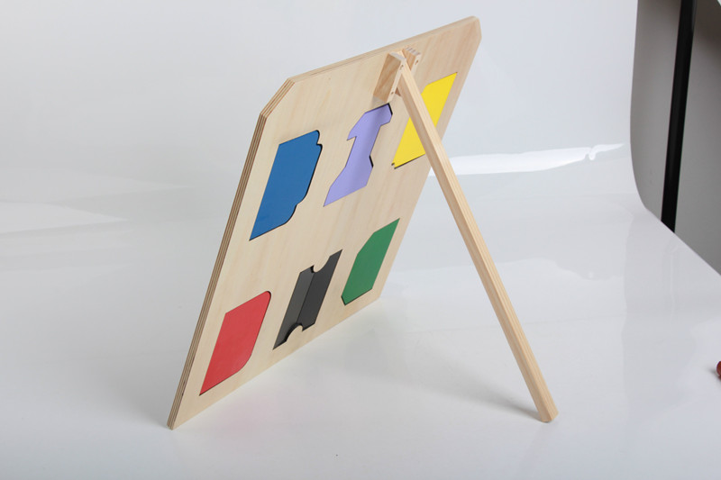 Купить с кэшбэком New Wooden Baby Toys Montessori Exercise unlocking plate Early Educational Toys Baby Gifts