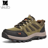 2017 Men Hiking Shoes Sapatilhas Mulher Waterproof Leather Shoes Climbing Fishing Shoes New Popular Outdoor Shoes