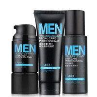 3 Pçs/set Oceano Homens De Energia Hidratante Hidratante Acne Controle de Óleo de Limpeza Profunda Esfoliante Cravo Face Care Cuidados Com A Pele
