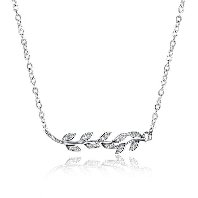 Небо Дизайн стерлингового серебра 925 пробы fime ювелирные изделия парфюмерия женская девушка кристалл джинсы женский Оливковую ветвь ожерелья подвески
