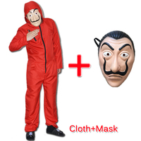 2pcs Salvador Dali Cosplay Movie Mask Money Heist The House Of Paper La Casa De Papel