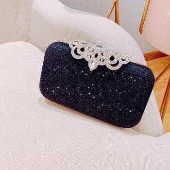 New fashion Sequined Scrub Clutch Women's Evening Bags Bling Day Clutches Gold Wedding Purse Female Handbag 3