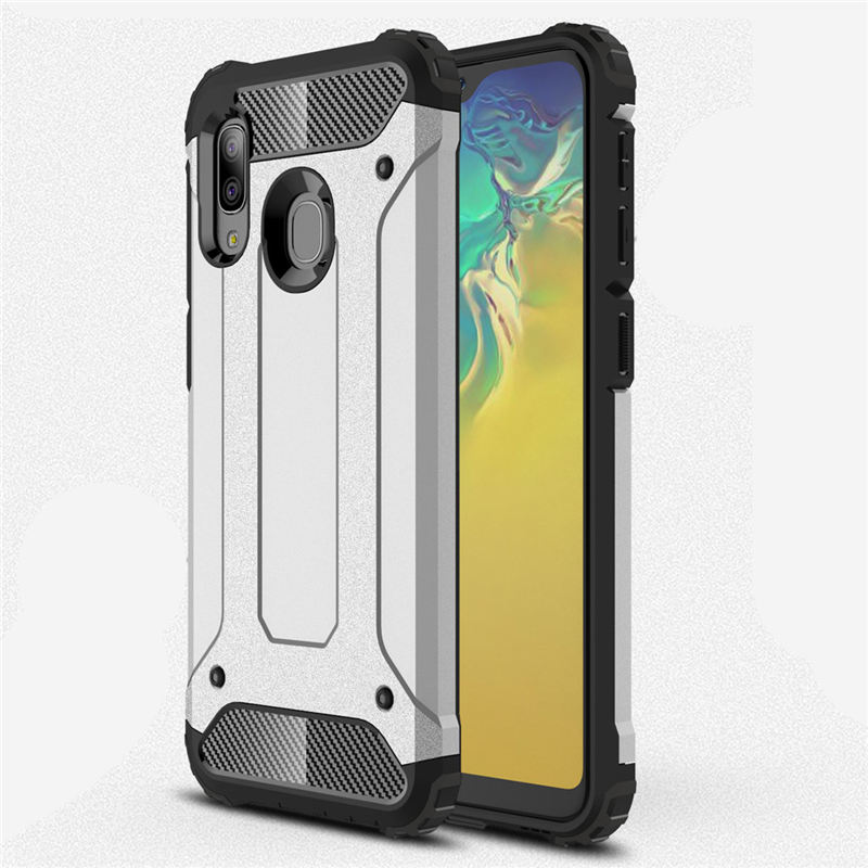 For <font><b>Samsung</b></font> Galaxy A10E A20E Case shockproof Armor Rubber Hard Back PC Case For Galaxy <font><b>A10</b></font> E A20 E Silicone Bumper Case Cover image