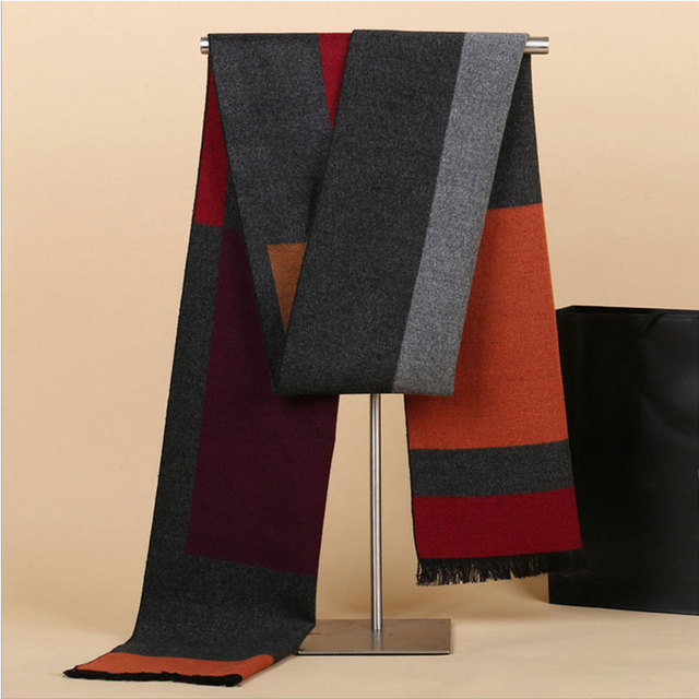 Men's Casual Color Contrast Scarf