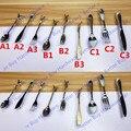 Agujero CC 76mm Plata Cuchara Cuchillo Tenedor Creativo \ Gabinete de La Cocina Armario Maneja Perillas de Los Cajones Manijas \ \ Muebles tira \ Bares Perillas