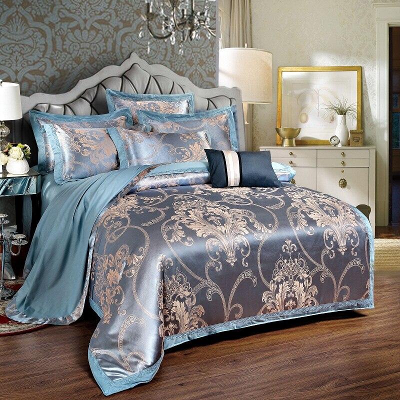 Keluo Luxury Wedding Jacquard Mulberry Silk Bedding 100
