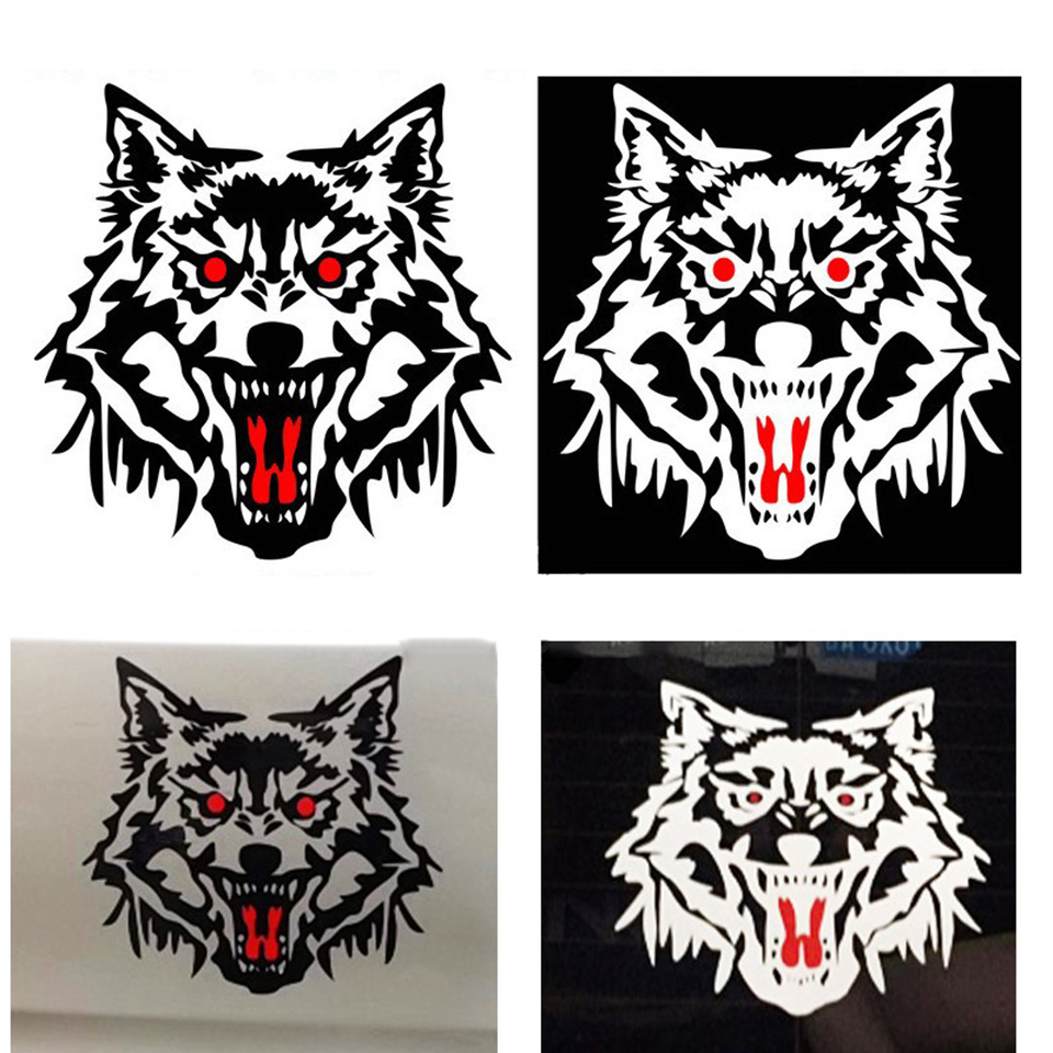 Image 4 - OCT 23 Car Vucuiys Wolf head Animal Door Decal Vinyl Graphics Auto Front/Side stickers 2pcs/set-in Car Stickers from Automobiles & Motorcycles