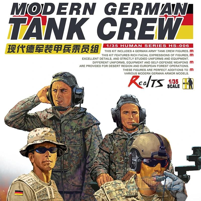 Meng 1//35 Scale Modern German Tank Crew Plastic Model Building Kit # HS-006