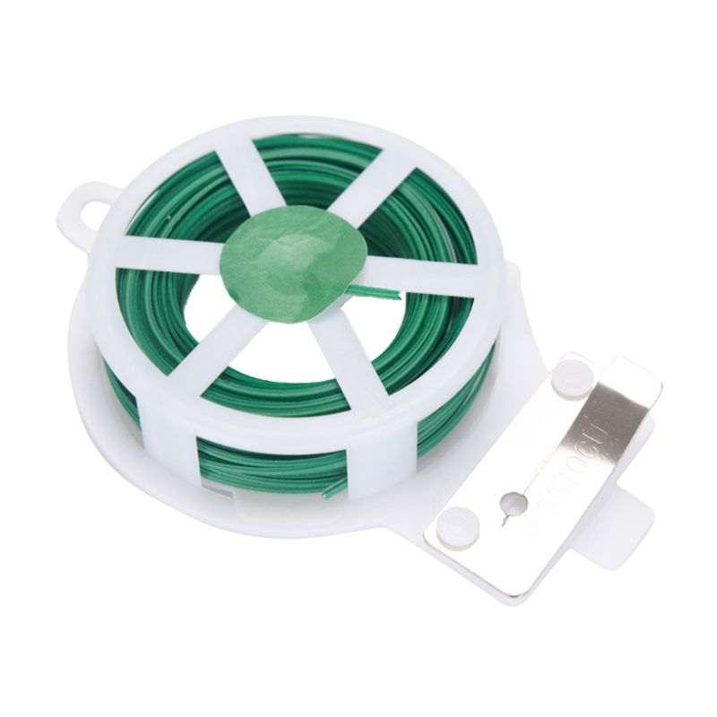 50m Green Coated Plant Twist Tie Wire String DIY For Garden Support Strap Bonsai Outlet Cable With Cutter