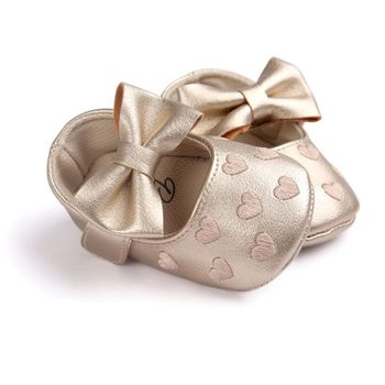 Baby PU Leather Baby Boy Girl Baby Moccasins Moccs Shoes Bow Fringe Soft Soled Non-slip Footwear Crib Shoes 3