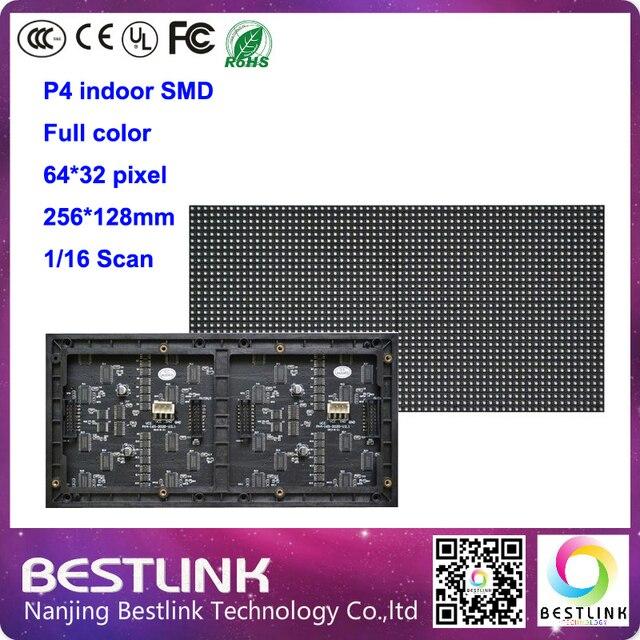 32x64 P4 SMD RGB LED Реклама Экран Модуль Блок доска 64x32 пикселей с Высоким разрешением 1/16 сканирование крытый видео панелей
