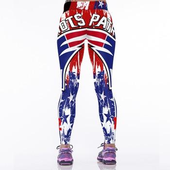 Women Sports Fitness Pants American Football 3D Printed Leggings