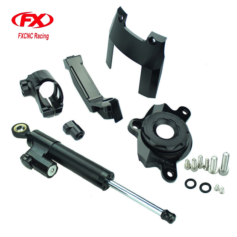For Kawasaki Z1000 2016 2017 Motorcycle Aluminum CNC Adjustable Steering Damper Stabilizer with Mounting Kits Support