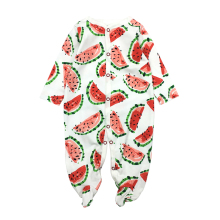 100% Cotton Baby Romper Long Sleeves Comfortable Baby Pajamas Cartoon Printed Newborn Baby Boy Girl Clothes picturesque childhood thanksgiving 3 1 baby boy s floral romper baby pajamas cotton long sleeve five leaf flowers