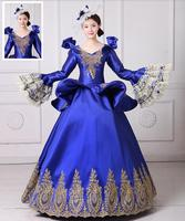Medieval Renaissance Victorian Ball Gown Wedding Dress Royal Court Stage Costume With Hat