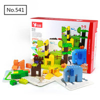 100pcs Large Particle Diy Building Blocks Creative Zoo Animals Bricks Compatible with Legoingly Toys for Children Baby Gift