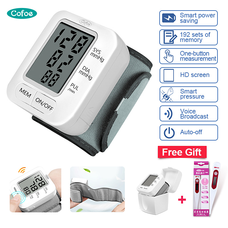 Cofoe Blood Pressure Monitor English Broadcast Tonometer LCD Digital Household Sphygmomanometer Automatic Medical Equipment New(China)