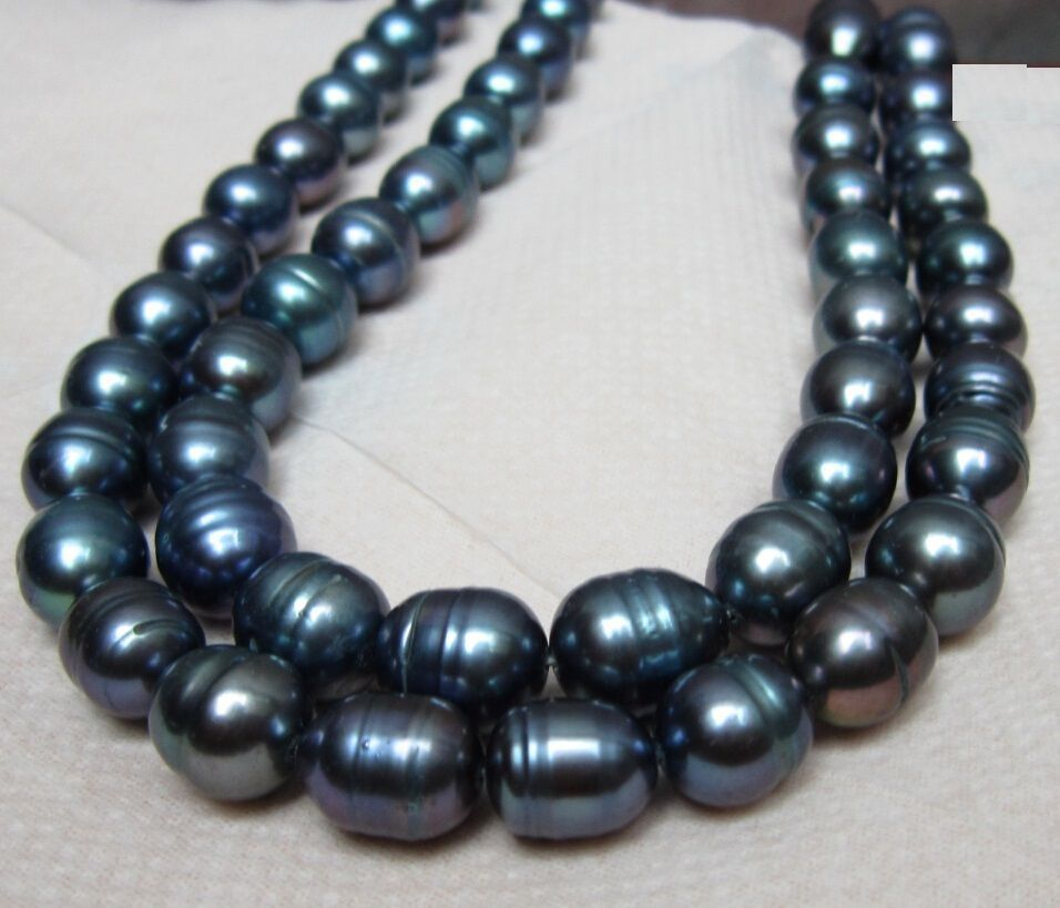 Wholesale FREE SHIPPING  HOT HUGE 10-11MM NATURAL SOUTH SEA BLACK GREEN PEARL NECKLACEWholesale FREE SHIPPING  HOT HUGE 10-11MM NATURAL SOUTH SEA BLACK GREEN PEARL NECKLACE