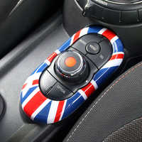 Union Jack Car Center Console Multimedia Panel Key Housing Cover Sticker for Mini Cooper JCW F55 F56 Car Styling Accessories