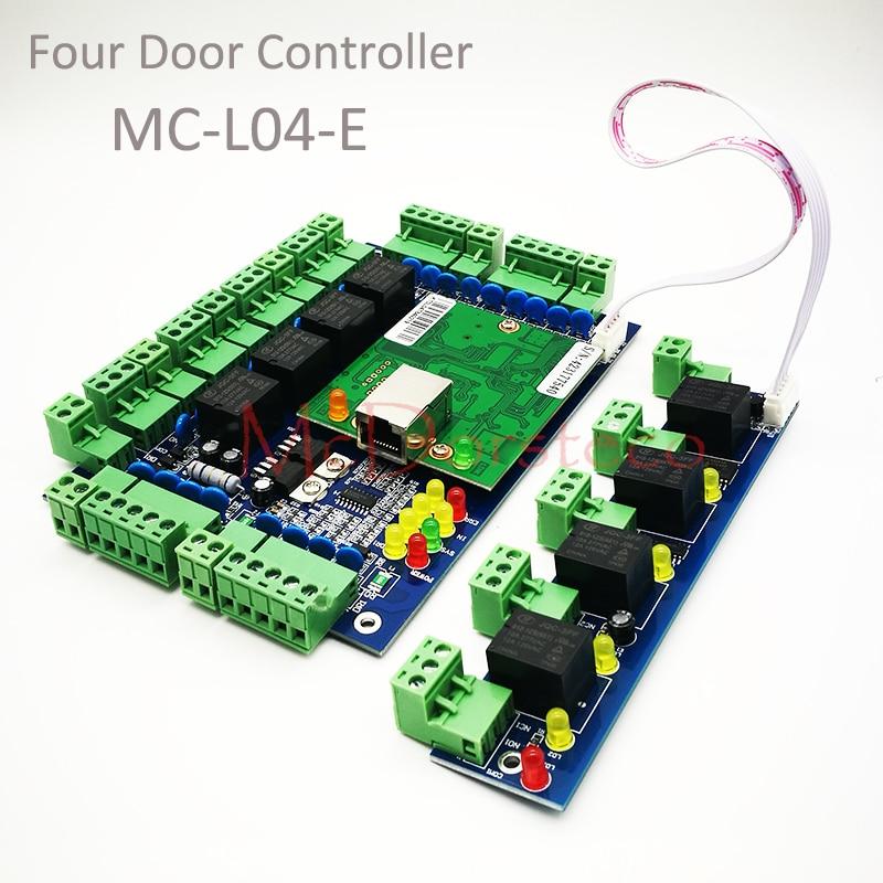 Tcp/ip Network L04 Intelligent Four-door one-Way Door Access Control Panel for Four Door Control +Alarm Expansion BoardTcp/ip Network L04 Intelligent Four-door one-Way Door Access Control Panel for Four Door Control +Alarm Expansion Board