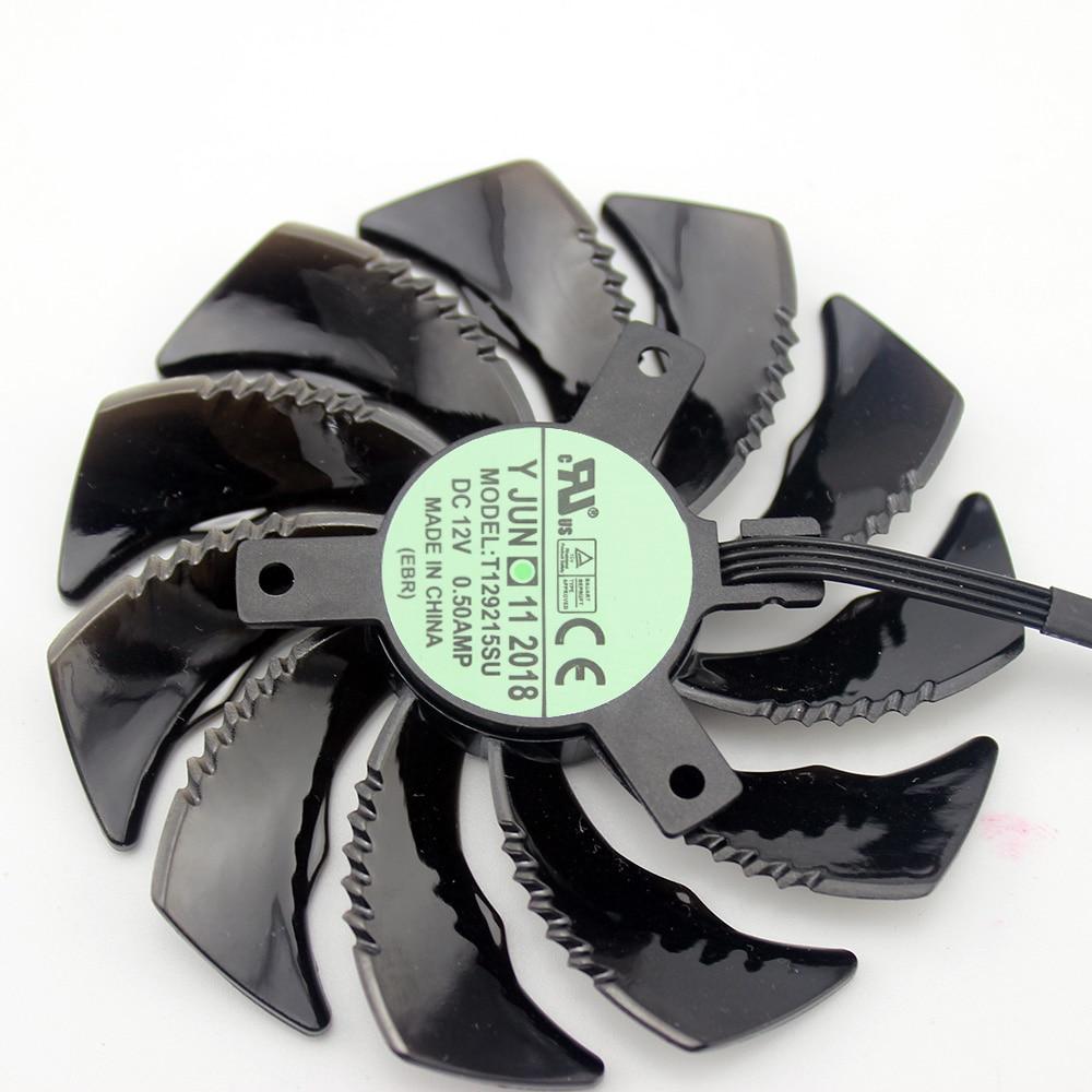 88MM PLD09210S12HH T129215SU 4Pin Cooler Fan For Gigabyte GeForce GTX1060 1070 GTX 1050ti GTX 960 RX570 RX470 Graphics Card 4