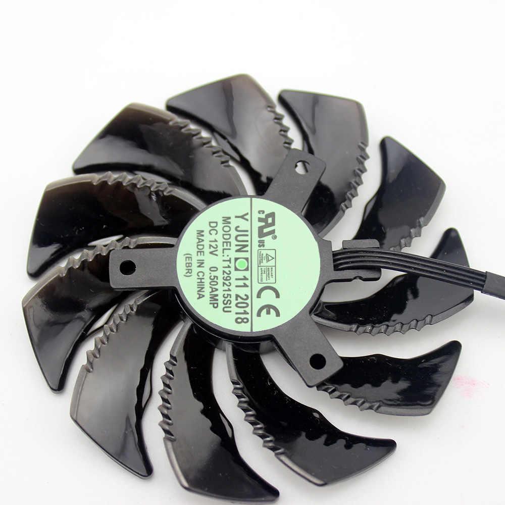 88mm, PLD09210S12HH T129215SU, ventilador refrigerador de 4 pines para Gigabyte GeForce GTX1060 1070 GTX 1050ti GTX 960 RX570 RX470, tarjeta gráfica