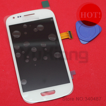 1pcs x 100% original AMOLED  LCD Display assembly with Touch Screen For Samsung Galaxy S3 mini i8190 free tools