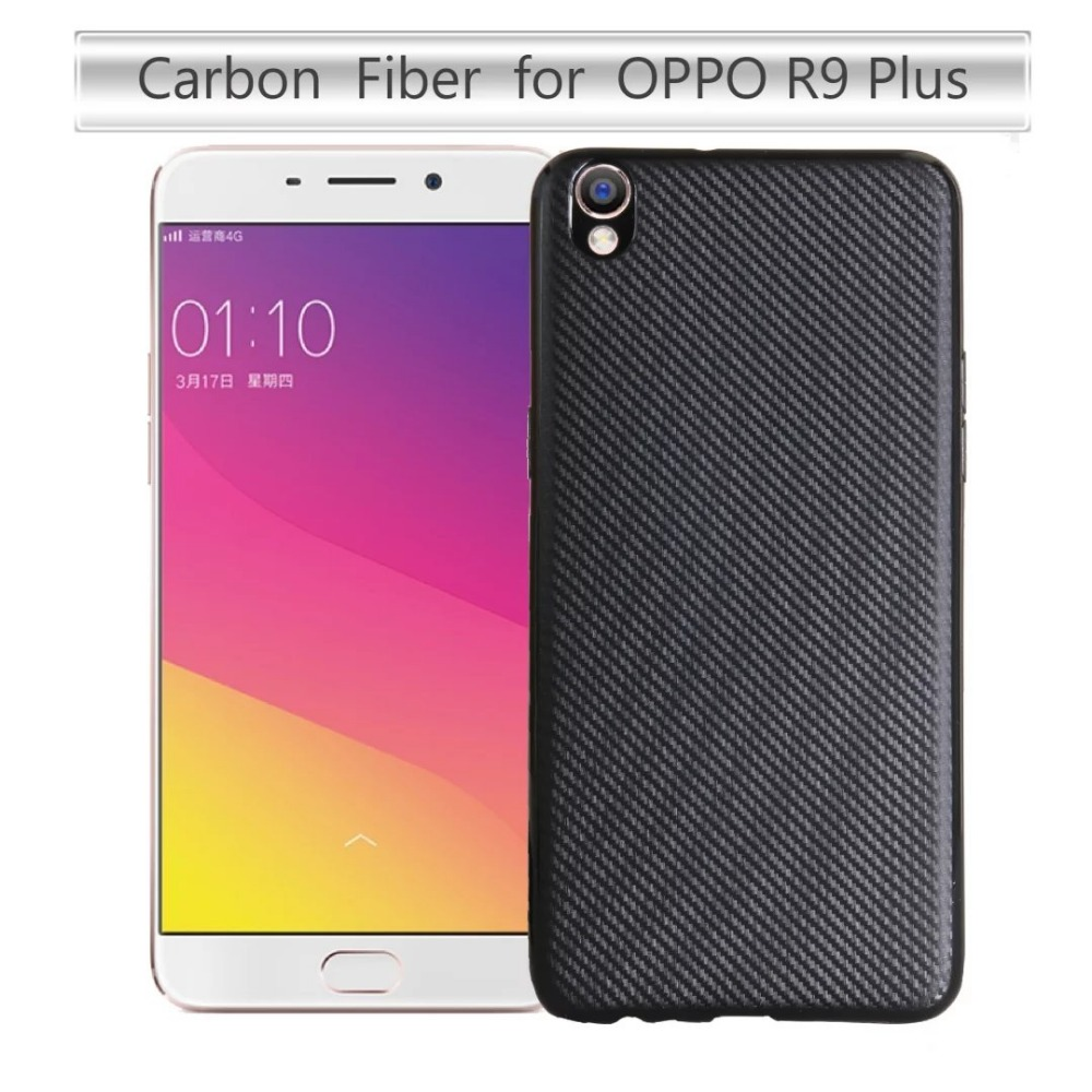 Carbon Fiber TPU Back Soft Rubber Silicone Phone Cover Case For OPPO R9 R9Plus R9S R9SPlus A31 A33 A35 A37 A39 A57 A59