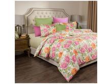 Комплект постельного белья полутораспальный SANTALINO, ПИОНЫ, светло-желтый