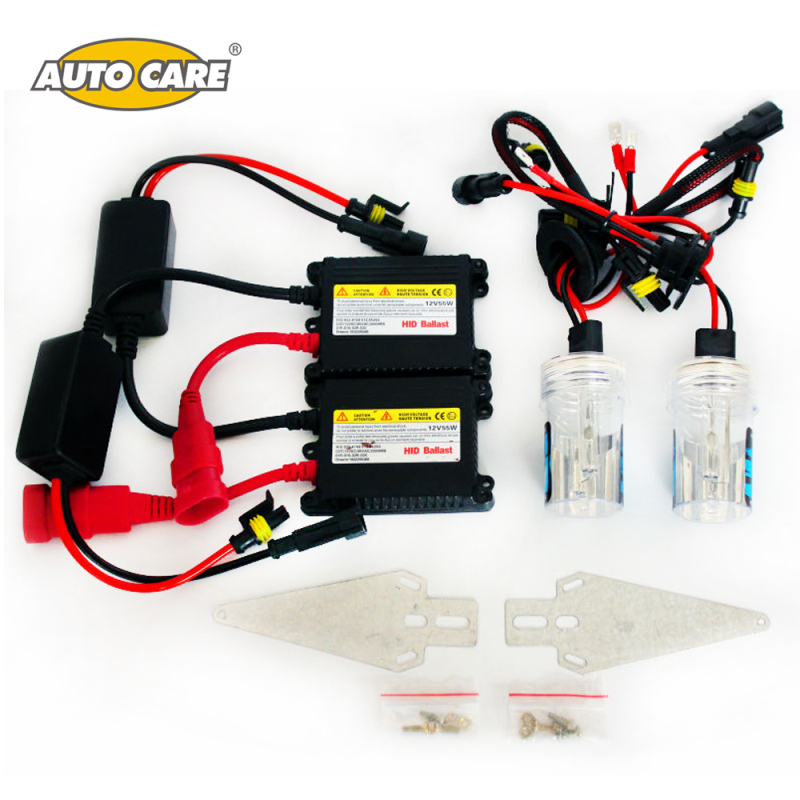 Auto Care Xenon HID Kit Car Headlight Slim Ballast 55W H7 H11 9005/HB3 9006/HB4 H27/880/881 H1 Xenon Headlight Conversion Kit slim hid xenon ballast 880 4300k headlight kit conversion bulbs 35w [c476]